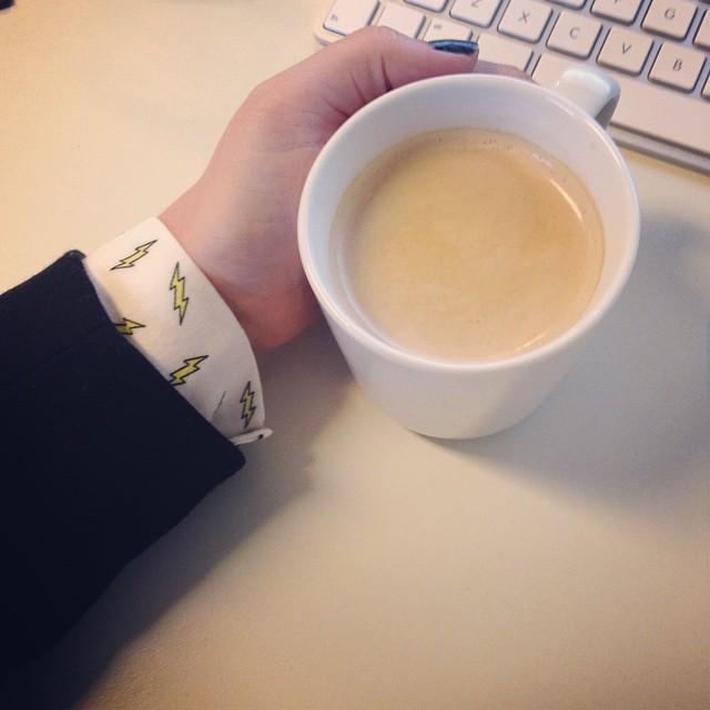 Koffie tijdens het werk