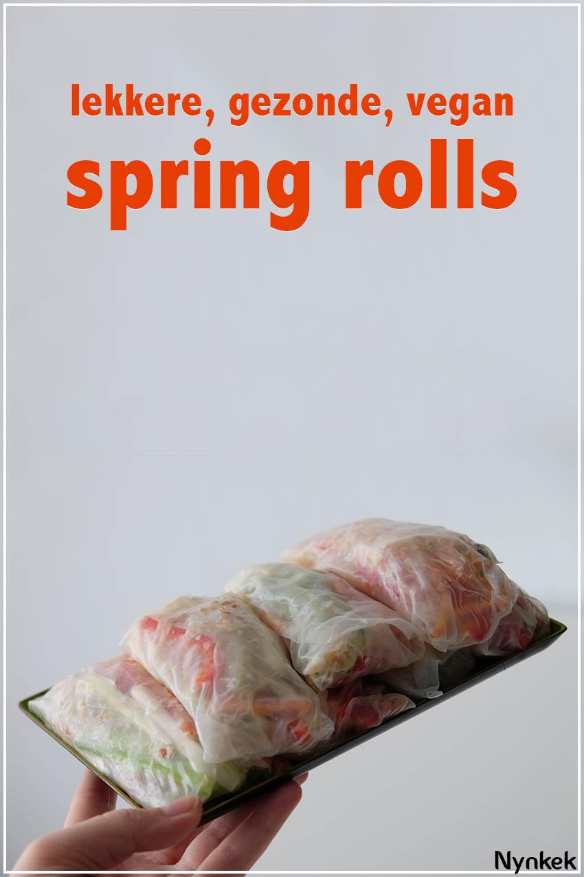 Lekkere, gezonde, vegan spring rolls recept via nynkek.nl