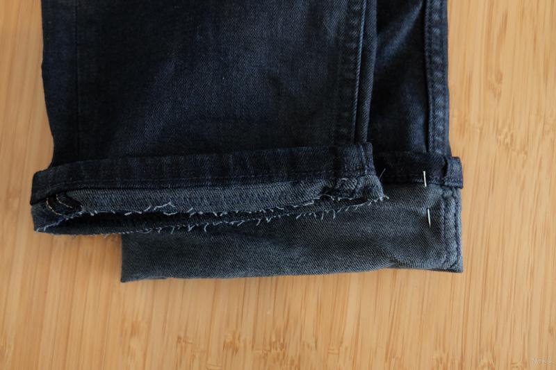 broek korter maken met orginele zoom - DSCF1007-160228