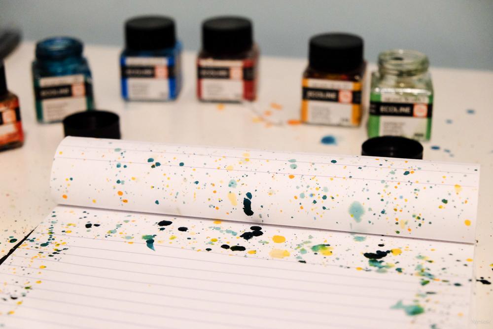Zelf briefpapier maken met ecoline