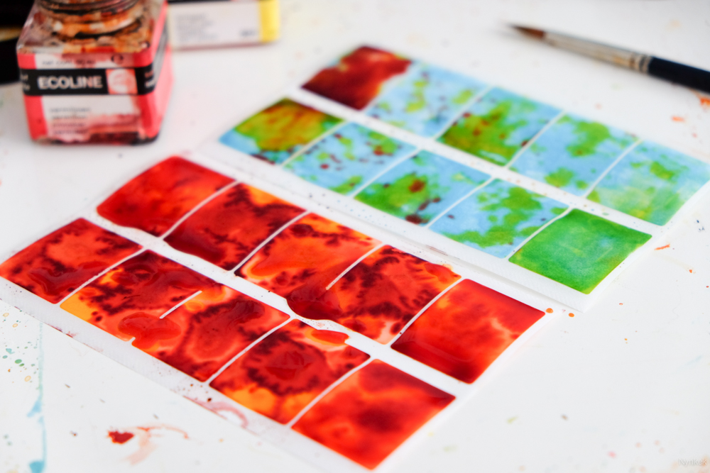 Ecoline stickers maken op etiketten