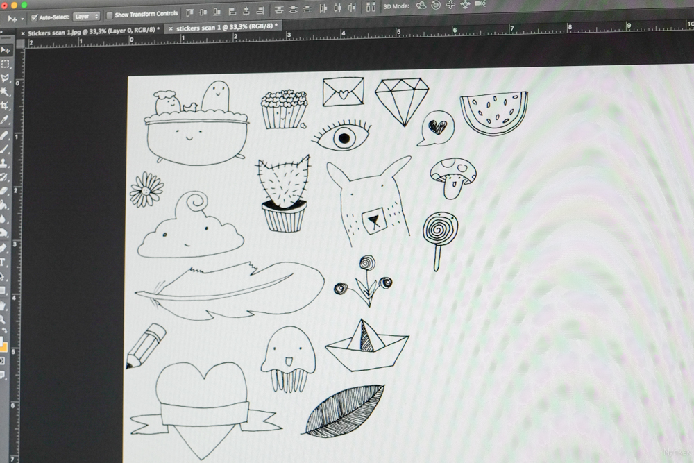 Stickers bewerken in Photoshop