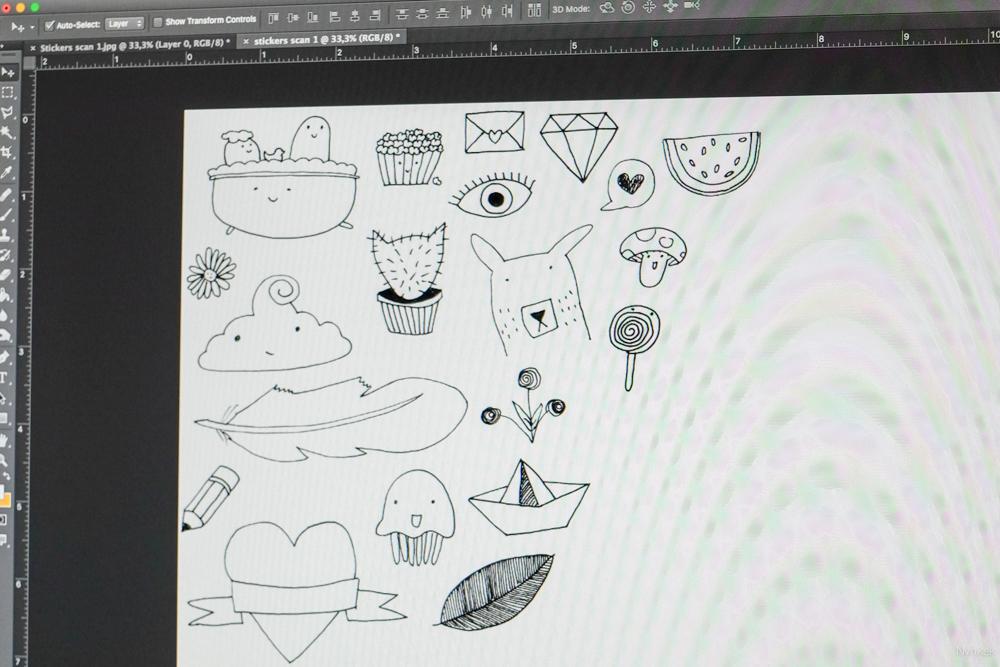Stickers bewerken in Photoshop