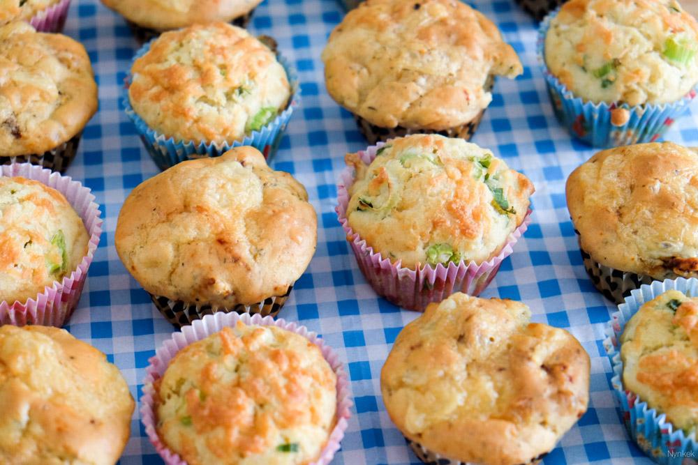 hartige italiaanse muffins en ander party food - nynkek