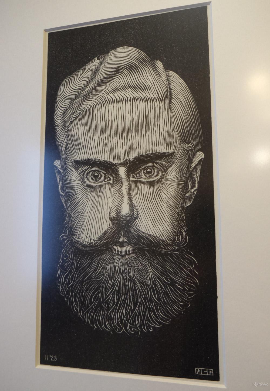 Een zelfportret. Wat een hipster was die M.C. he.
