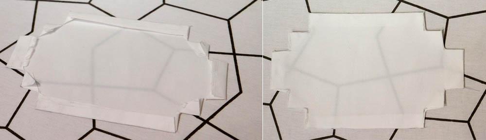 strijk de randen van je witte stof om