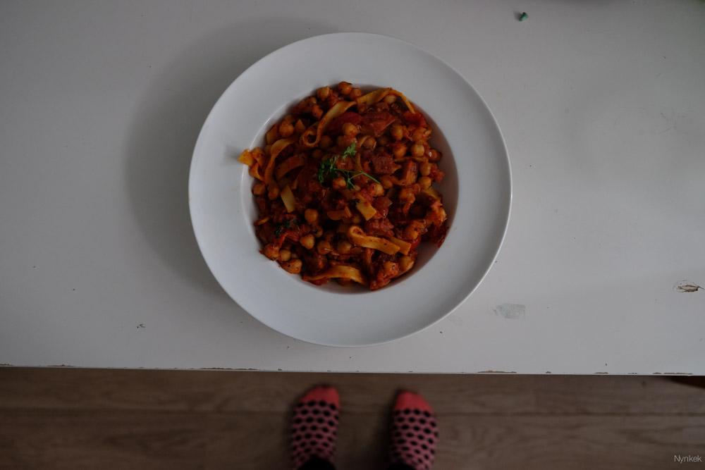 Hee pasta, met voetjes?