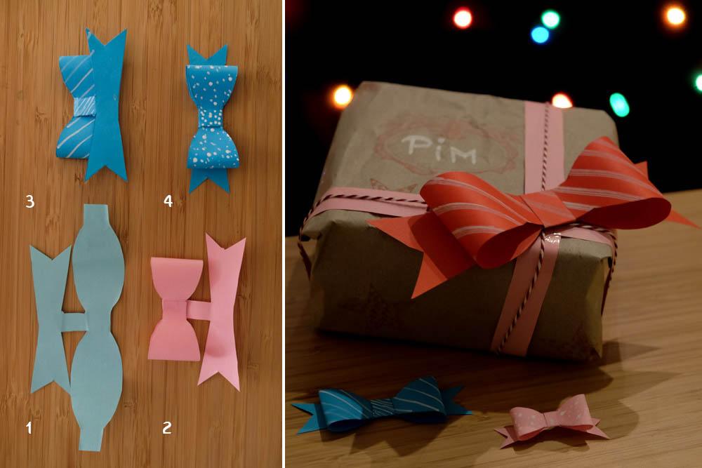 Tip 3: papieren strikjes maken