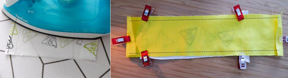 Stap 1: maak een sandwich van je stof incl elastiek