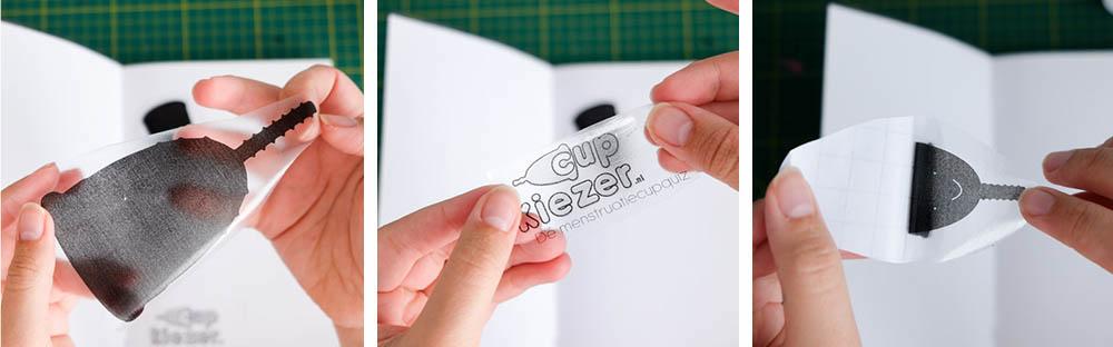 zelf transparante stickers printen