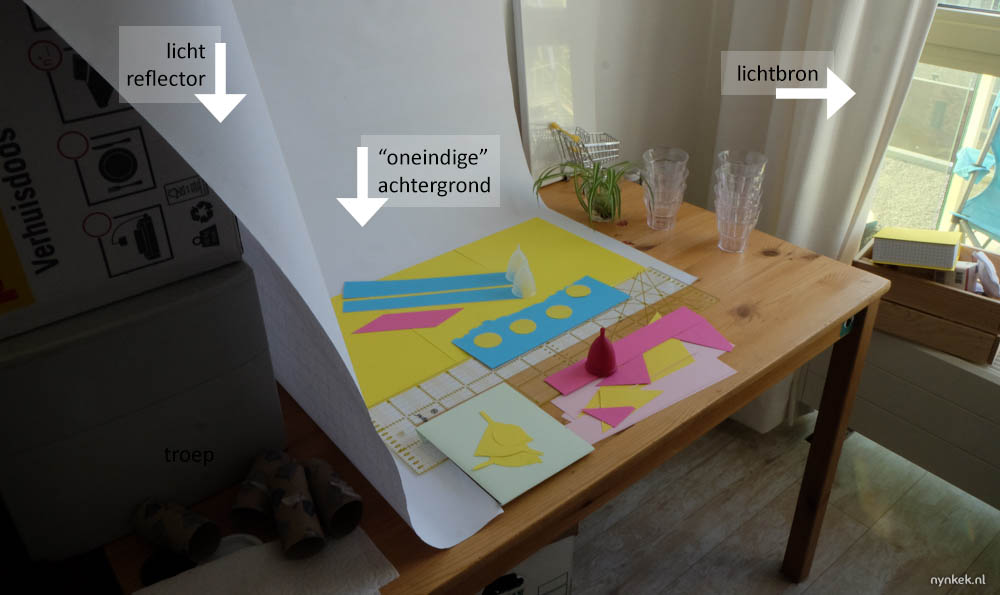 productfotografie opstelling op bureau