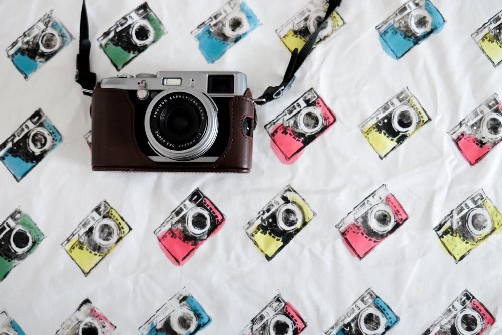 Fuji X100s cameraprint op stof