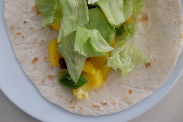 Vegan Challenge - Wrap with vegetables