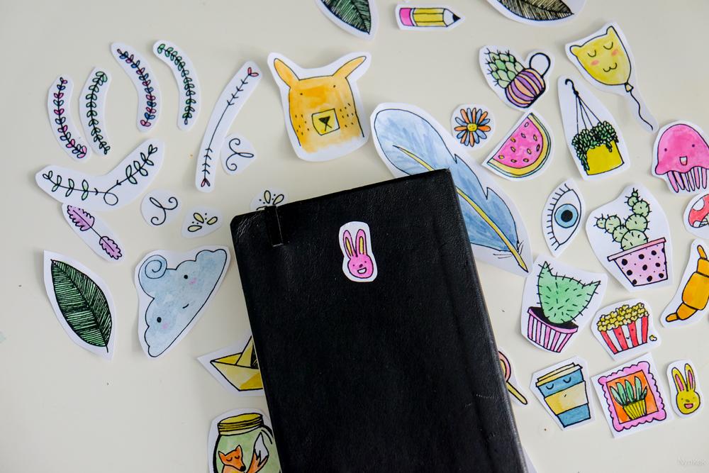 Diy zelf stickers maken en printen nynkek