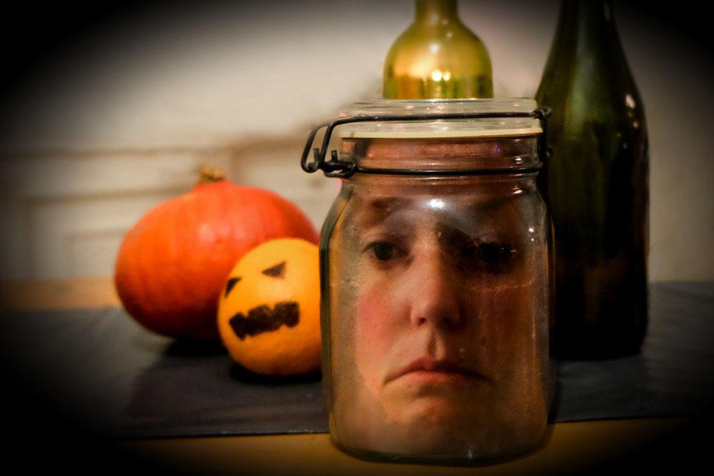 Zeer DIY: hoofd op sterk water voor Halloween - Nynkek @NT96