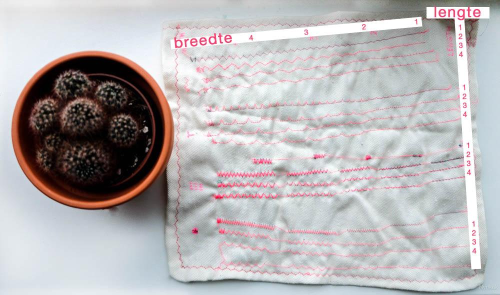 Maak een proeflapje om je naaimachine te leren kennen