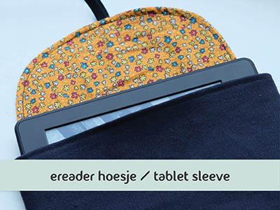 Makkelijke naaitutorial: ereaderhoes of tabletsleeve naaien