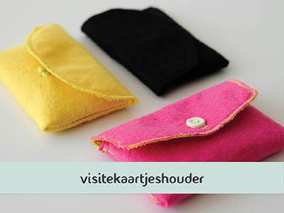 Makkelijke naaitutorial: visitekaartjeshouder naaien