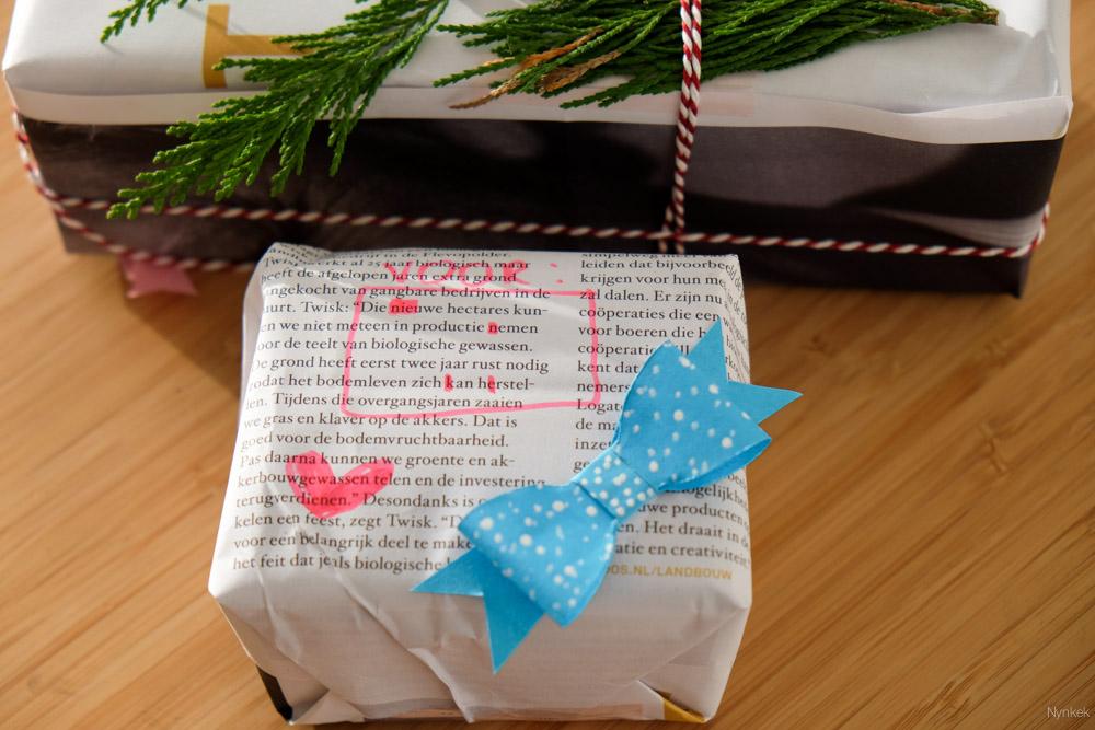Tip 6: herbruik oud papier als inpakpapier