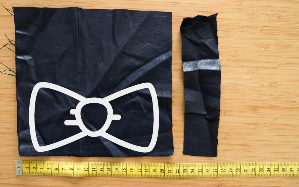 Maak je eigen strikje of bowtie uit een lapje stof