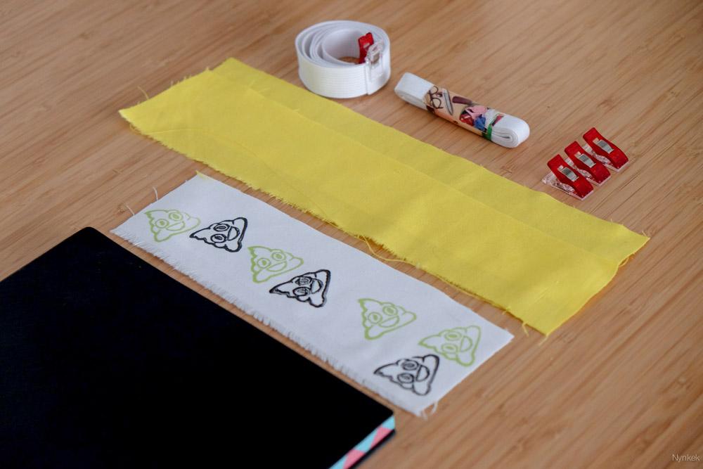 Benodigdheden om een pennenhouder te naaien voor je notitieboek