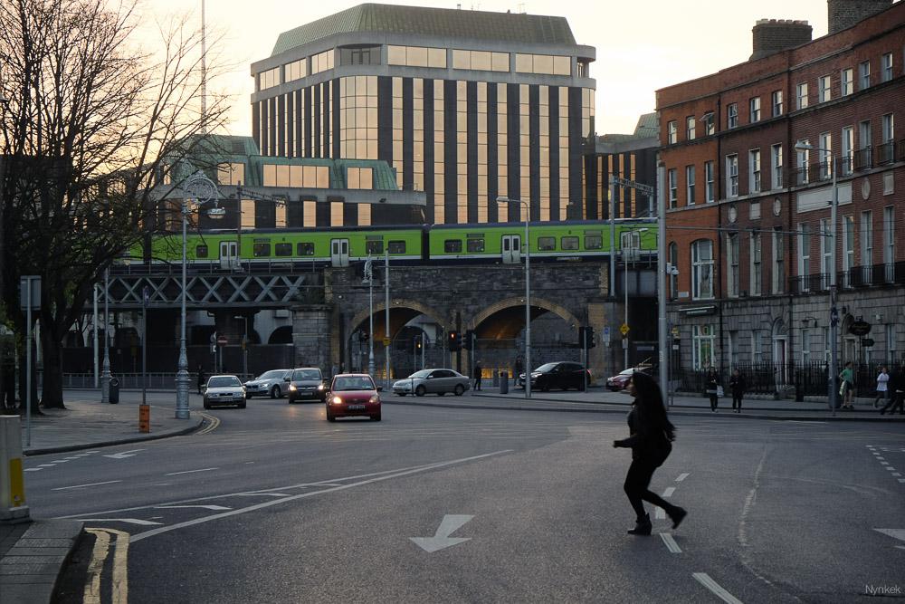 Iedereen loopt door rood in Dublin.