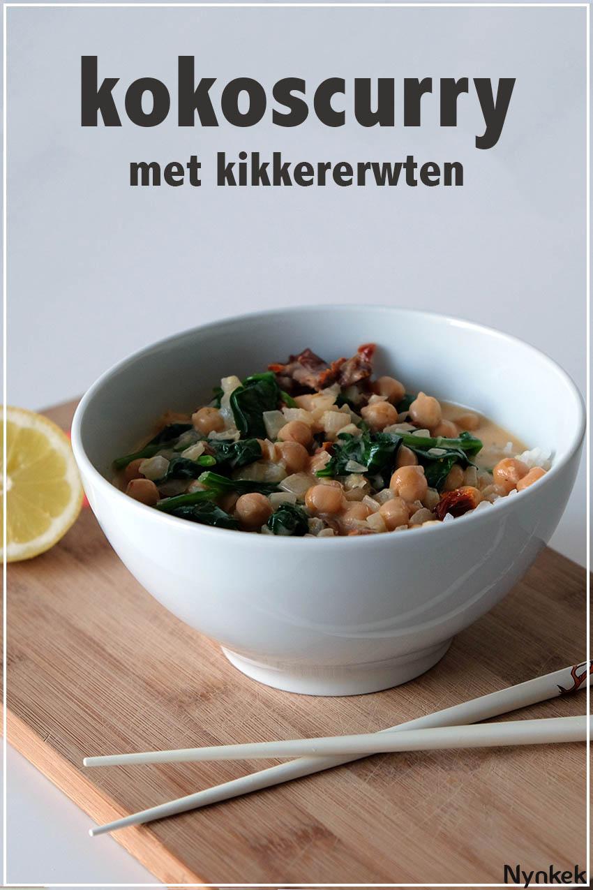 kokoscurry met kikkererwten via nynkek.nl
