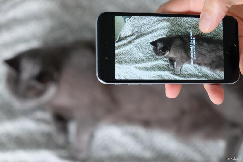 OK Video: Houd het scherm ingedrukt om te filmen