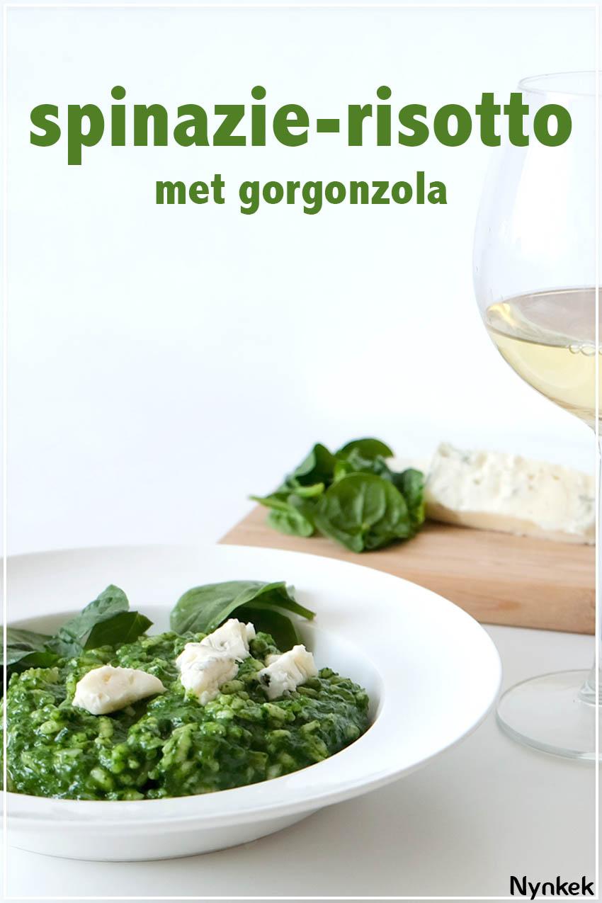 vegetarische spinazie-risotto met gorgonzola recept via nynkek.nl