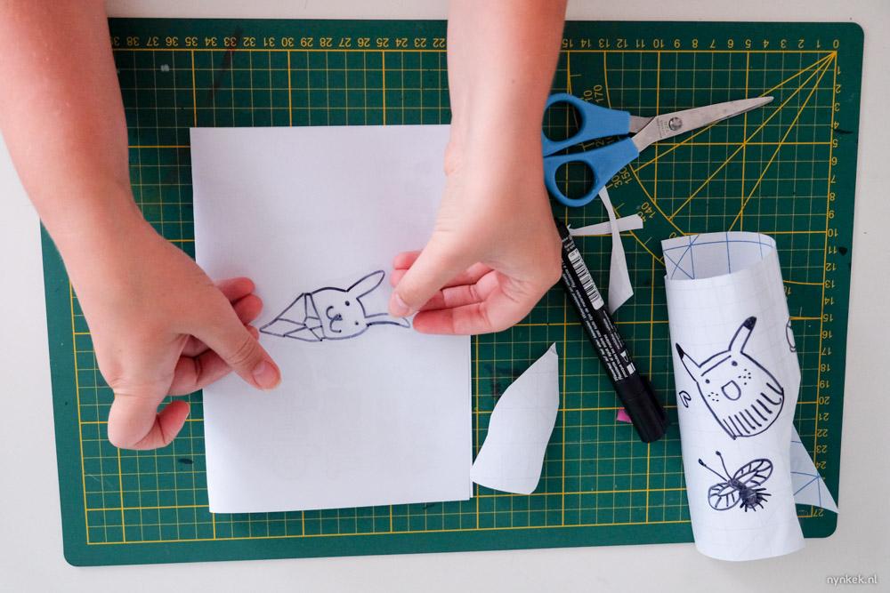 zelf transparante stickers tekenen