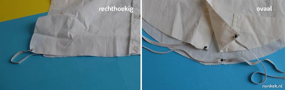 voeg elastiek toe aan je verwisselbare kraag